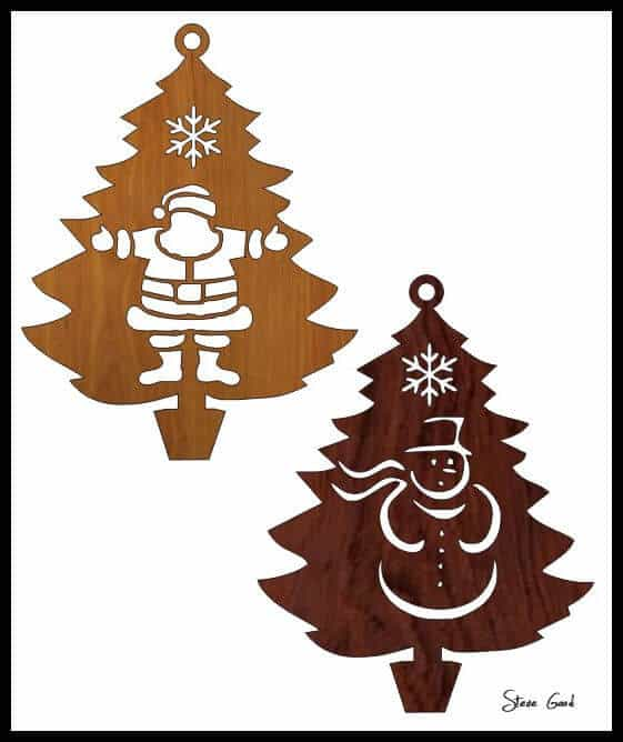 11. Christmas Tree Patterns - 35 Free Scroll Saw Patterns To Make Pretty Wood Crafts