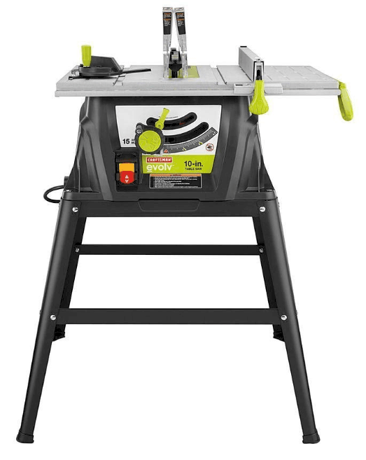 craftsman evolv table saw
