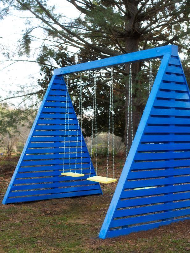diy wooden swing set plans