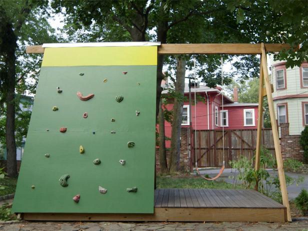 diy wooden swing set