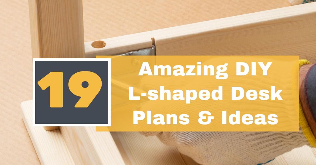 19 Amazing DIY L-Shaped Desk Plans & Ideas