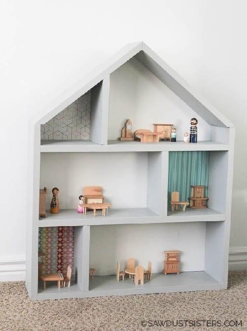 DIY Handmade Wooden Dollhouse