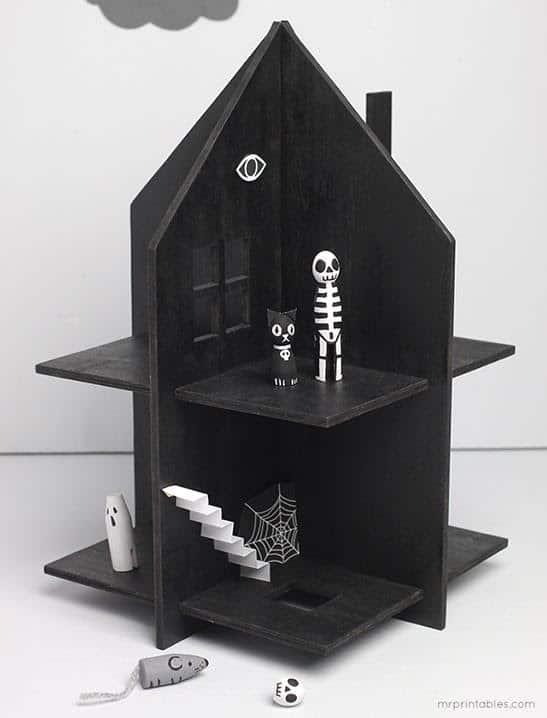 DIY Haunted Dollhouse with Peg Dolls