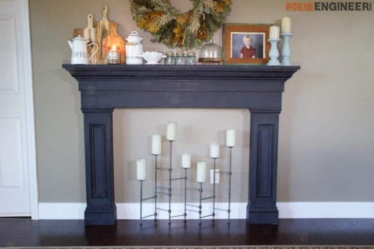 DIY Faux Fireplace Mantel Surround