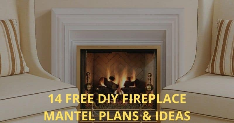 14 Free DIY Fireplace Mantel Plans & Ideas