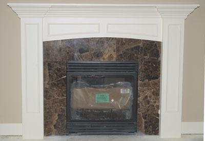 DIY Fireplace Mantel with Frieze Board