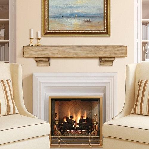 DIY Simple Fireplace Mantel