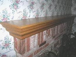DIY Wooden Fireplace Mantel