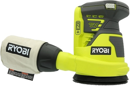 Ryobi P411 One+ 18 Volt 5 Inch Cordless Battery Operated Random Orbit Power Sander