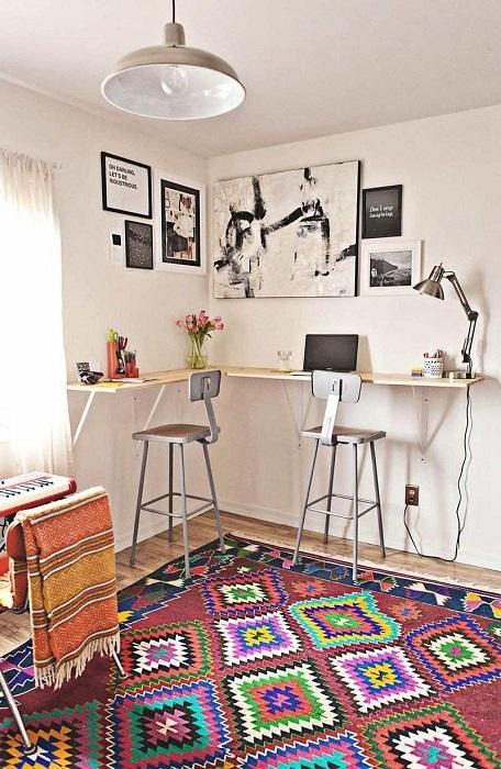 High Top DIY Corner Desk Plans