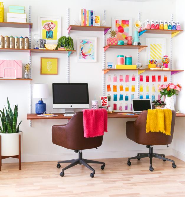 Mounted Wall DIY Corner Desk Plans