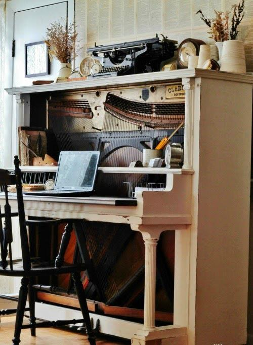 Repurposed Piano DIY Corner Desk Plans