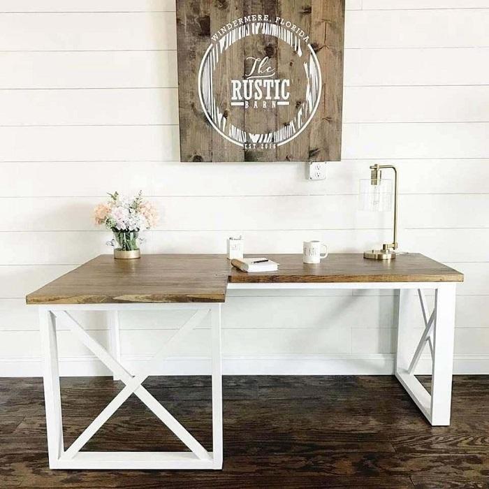 Rustic DIY Corner Desk Plans