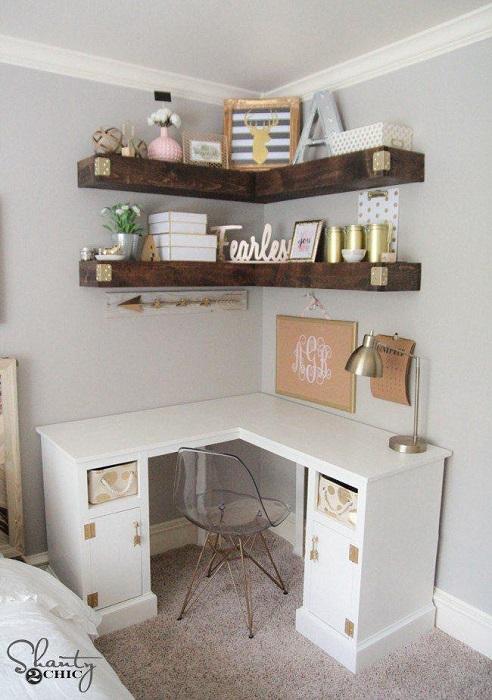 Simple DIY Corner Desk Plan