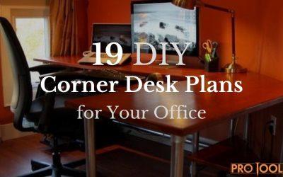 19 DIY Corner Desk Plans for Your Office
