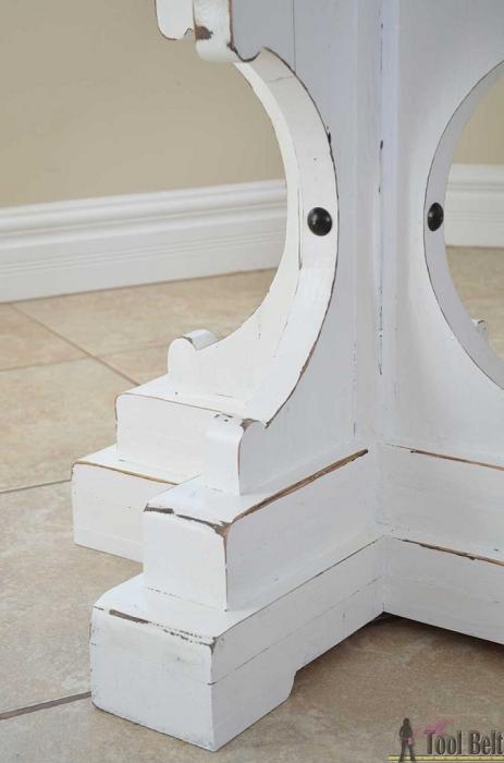 DIY Carved Pedestal Table Legs