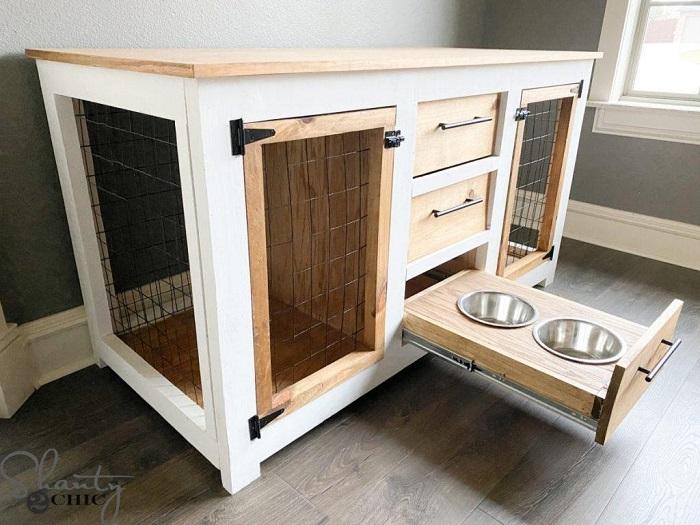 DIY Console Dog Crate