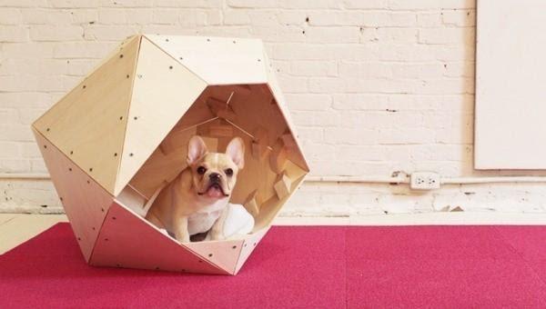 DIY Contemporary Geometric Dog Crate