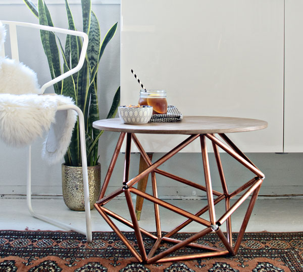 DIY Himmeli Table Legs Using Copper Pipes