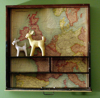 DIY Map Bookshelf