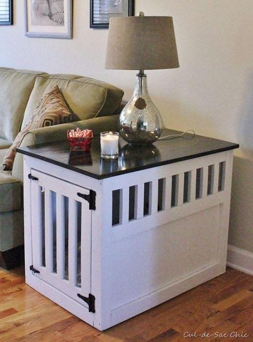 DIY Nightstand Dog Crate