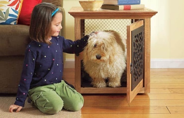 DIY Panelled Rustic Dog Crate