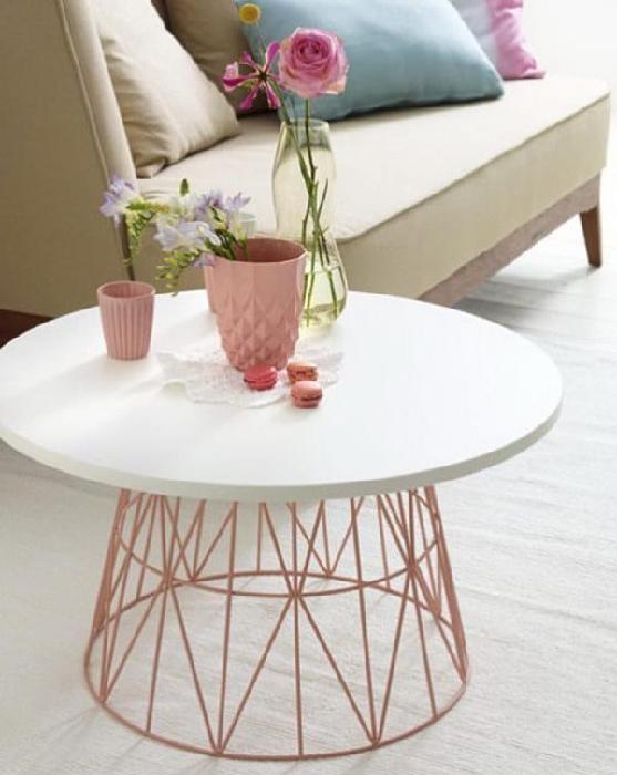 DIY Storage Basket Table Legs