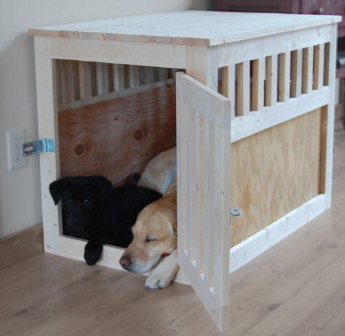 DIY Wooden Slate Dog Crate