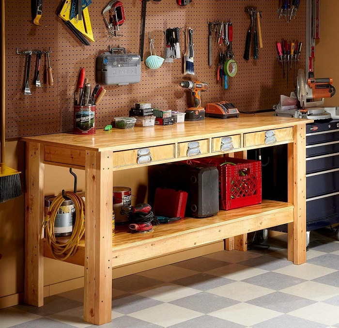 The eye-catching workbench