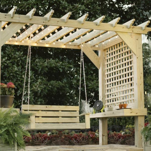DIY Pergola with Swing