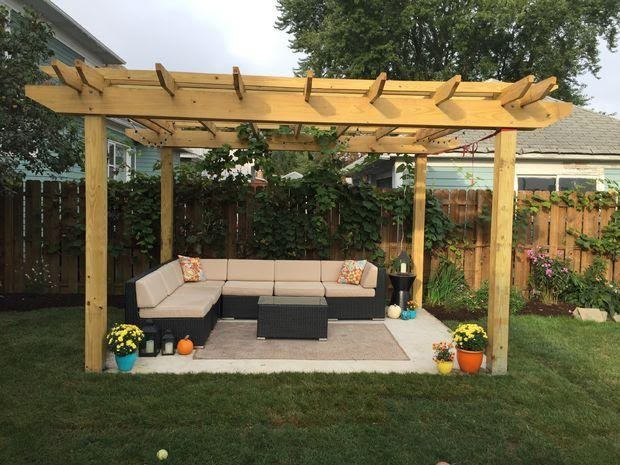 String Light Pergola