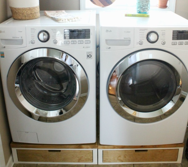 DIY Laundry Pedestal Plans With Drawers