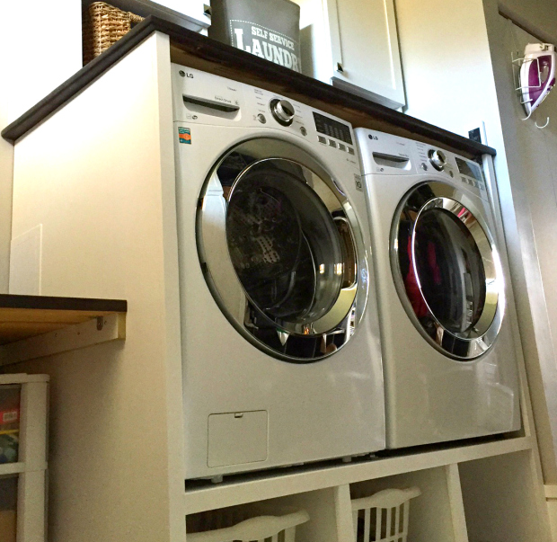 DIY Laundry Pedestal With Partition