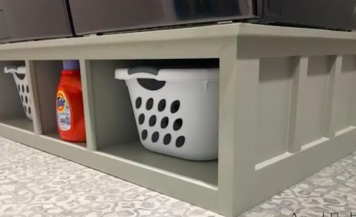 L-shaped Laundry Pedestal Plans
