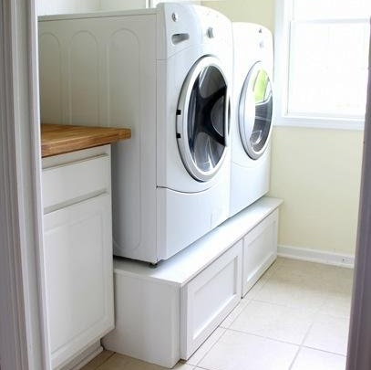 Laundry Pedestal With Large Drawers