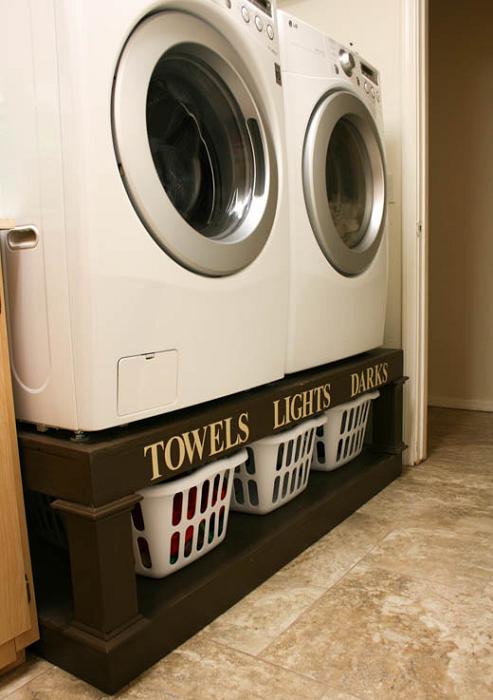 Organizer DIY Laundry Pedestal Plans