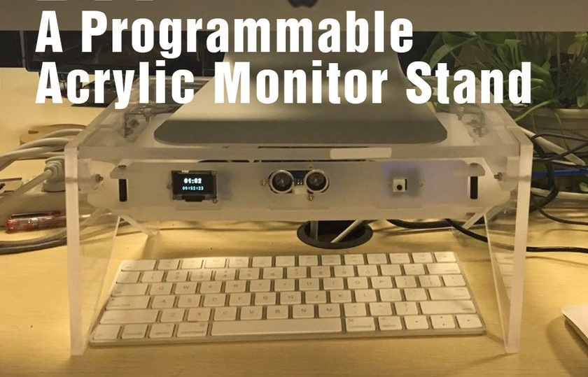 The Acrylic Programmable Monitor Stand