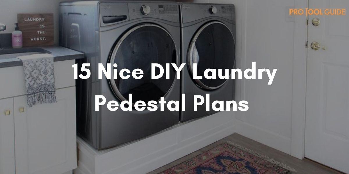 diy laundry pedestal plans