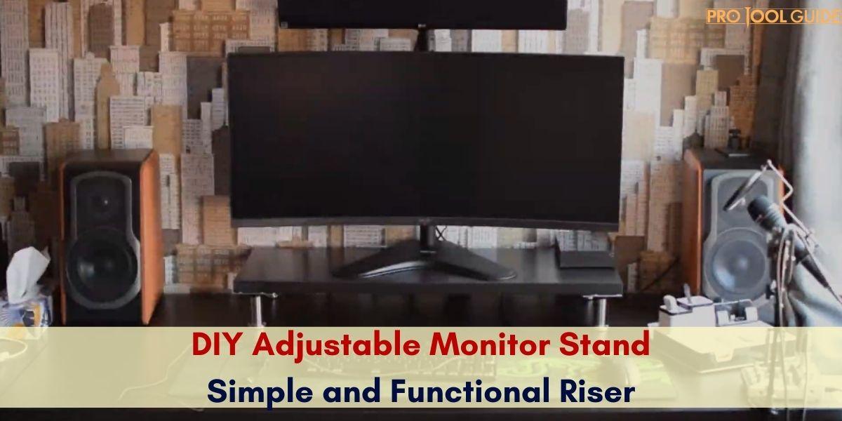 diy monitor stand