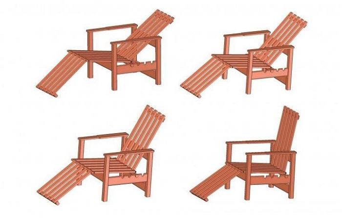 Adjustable Adirondack Chair Plan