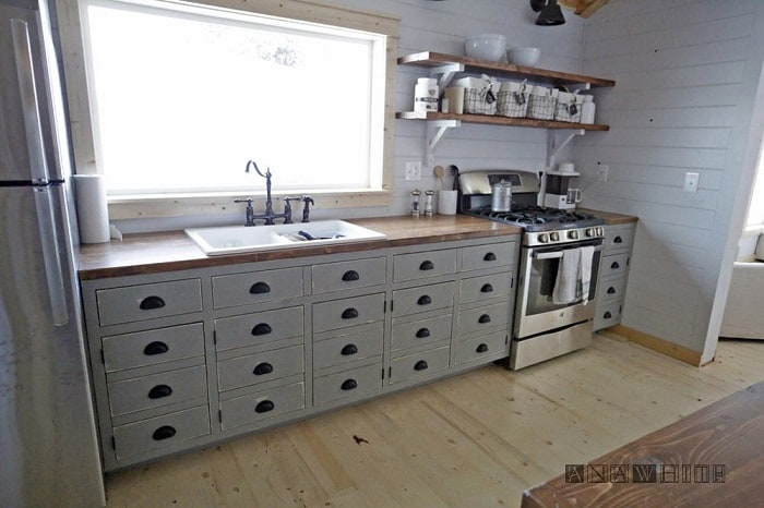 Apothecary Style Kitchen Cabinets