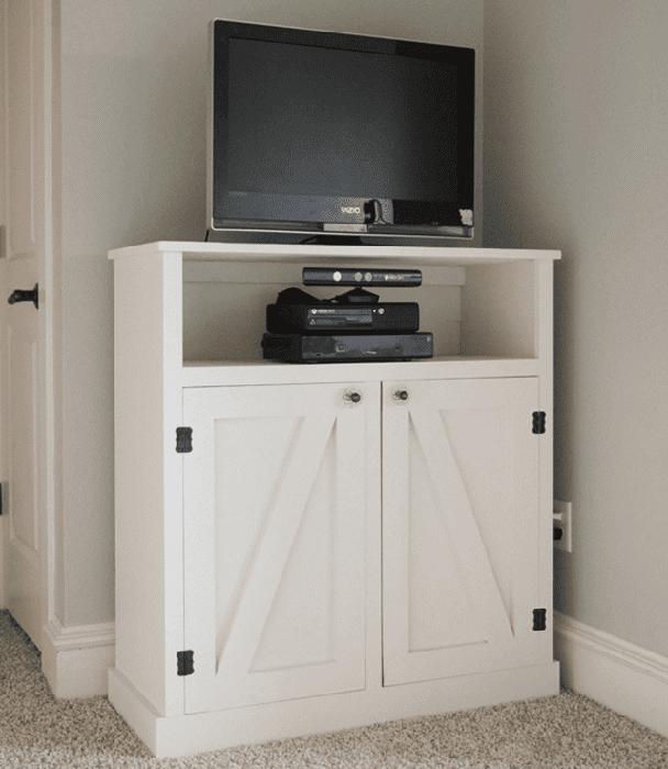 Barn Door Media Console