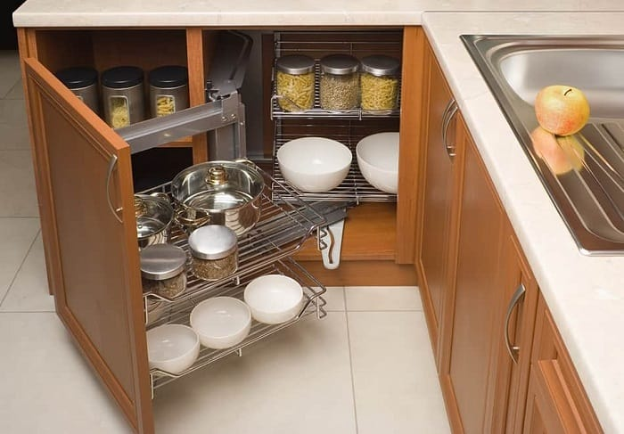 Create more storage in cabinets