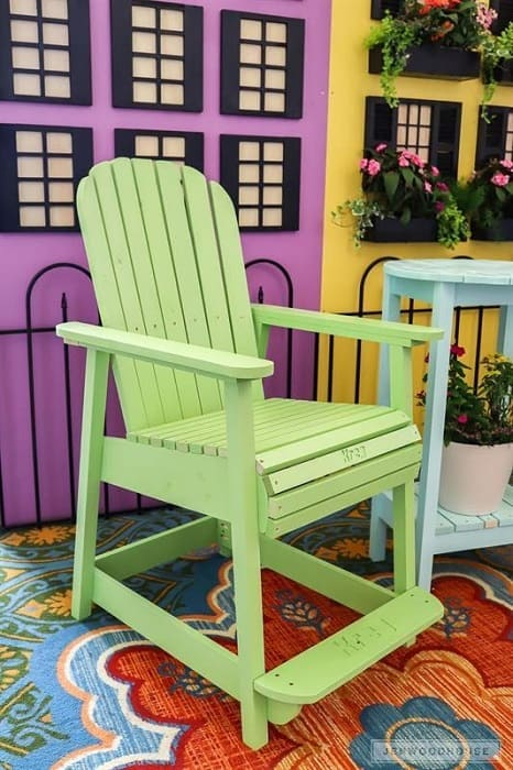 DIY Adirondack Counter Height Chair