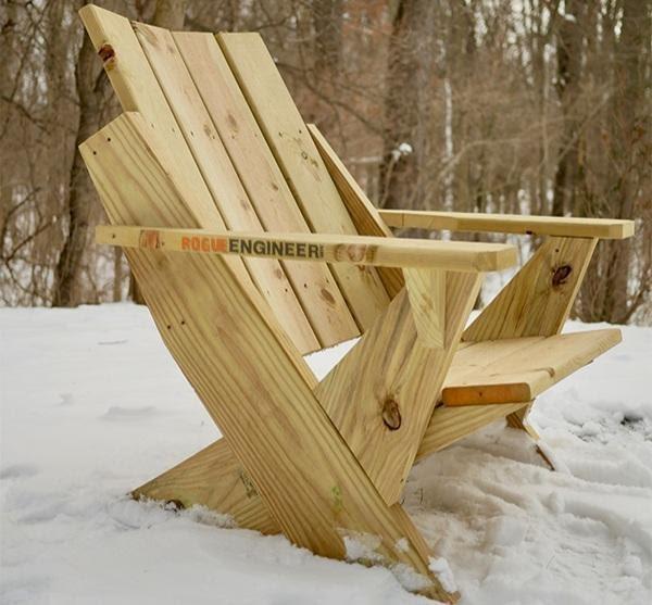 Easy Modern DIY Adirondack Chair