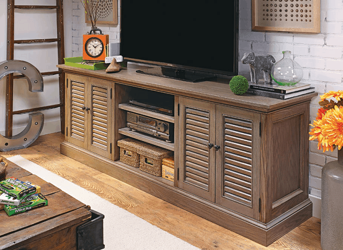 Louvered Door T.V. Console