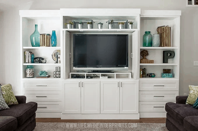 The Big Screen TV Entertainment Center Project