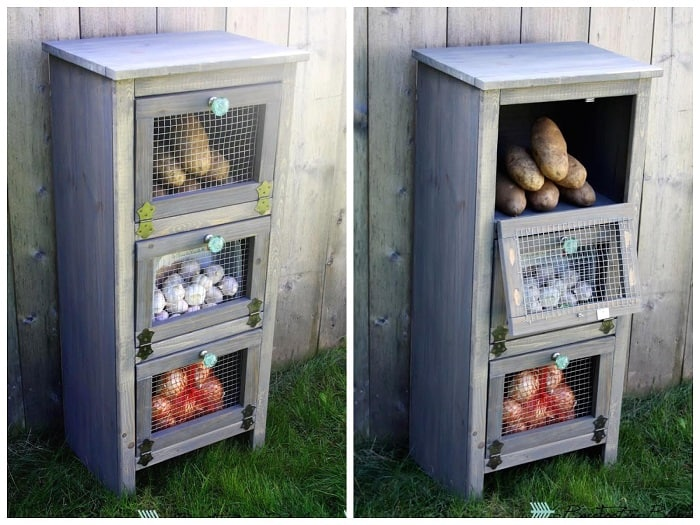 The vegetable and fruit cabinet
