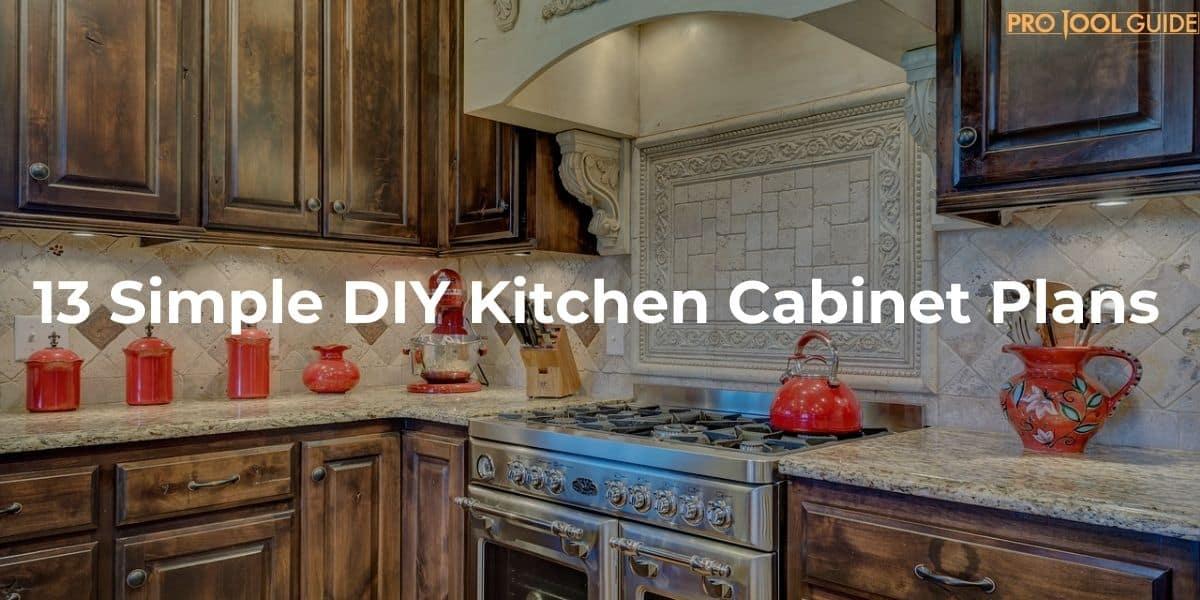 13 Simple DIY Kitchen Cabinet Plans